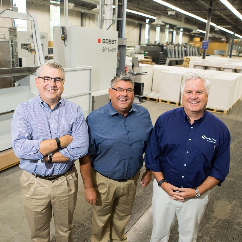 Steve, John, and Joe Zenger - Zenger Group owners